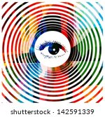 colorful hypnotic eye vector... | Shutterstock .eps vector #142591339