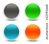 glossy web buttons   Shutterstock . vector #142592668