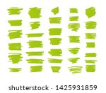vector brush strokes text boxes....   Shutterstock .eps vector #1425931859