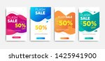 sale banner template with... | Shutterstock .eps vector #1425941900
