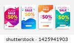 sale banner template with... | Shutterstock .eps vector #1425941903