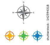compass vector icon. navigation ... | Shutterstock .eps vector #142594318