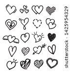 hand drawn love heart shape... | Shutterstock .eps vector #1425954329
