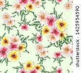 flower print. elegance seamless ... | Shutterstock . vector #1425954590