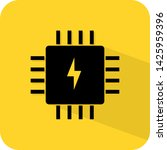 fuse box ic circuit icon logo...