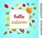 hello autumn vector banner or... | Shutterstock .eps vector #1425960566