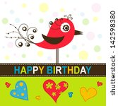template greeting card  vector... | Shutterstock .eps vector #142598380