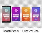 login gradient screen template. ...