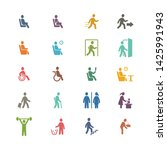 people  pictogram  person  sign ... | Shutterstock .eps vector #1425991943