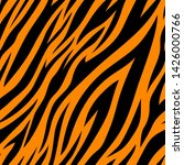 seamless pattern with tiger... | Shutterstock .eps vector #1426000766