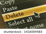 delete button in the screen....