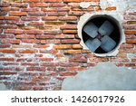 old walls and the vents of the... | Shutterstock . vector #1426017926