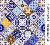 seamless colorful patchwork in... | Shutterstock .eps vector #1426021043