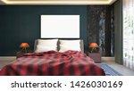 mock up poster frame in...   Shutterstock . vector #1426030169