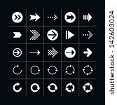 25 arrow sign icon set 03 ... | Shutterstock .eps vector #142603024
