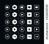 25 arrow sign icon set 06 ...