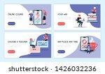 online education horizontal... | Shutterstock .eps vector #1426032236