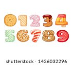 set of tasty numbers symbols.... | Shutterstock .eps vector #1426032296
