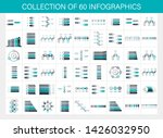 collection of 60 infographic.... | Shutterstock .eps vector #1426032950