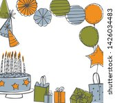 vector birthday background.... | Shutterstock .eps vector #1426034483