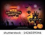 halloween lettering halloween... | Shutterstock .eps vector #1426039346