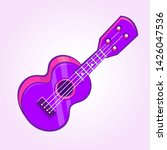 cartoon ukulele illustration.... | Shutterstock . vector #1426047536