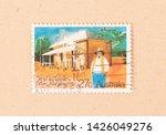 australia   circa 1980  a stamp ...   Shutterstock . vector #1426049276