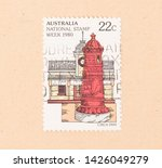 australia   circa 1980  a stamp ...   Shutterstock . vector #1426049279