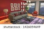 interior of the living room. 3d ... | Shutterstock . vector #1426054649