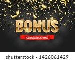 shining sign bonus banner with... | Shutterstock .eps vector #1426061429