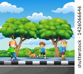 illustration of children... | Shutterstock .eps vector #1426066646