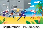 business people hurry on... | Shutterstock .eps vector #1426066856