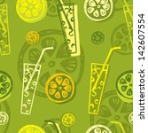 seamless vector pattern with... | Shutterstock .eps vector #142607554