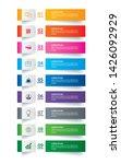 infographics tab paper index... | Shutterstock .eps vector #1426092929