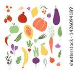 vegetables fruit. fruits...   Shutterstock .eps vector #1426094189