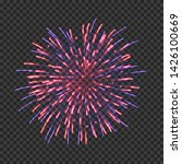 festive fireworks with blue and ... | Shutterstock .eps vector #1426100669