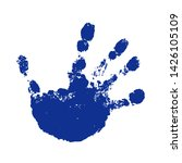 Hand Paint Print  Isolated...