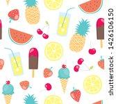 vector seamless cute cartoon... | Shutterstock .eps vector #1426106150