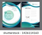 template annual report brochure ... | Shutterstock .eps vector #1426114163