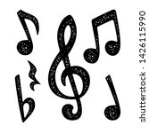 set music notes. vector black... | Shutterstock .eps vector #1426115990