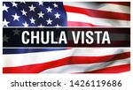 chula vista city on a usa flag...