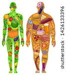 the food in the human diet ... | Shutterstock .eps vector #1426133396