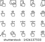 set of gesture icons  such as... | Shutterstock .eps vector #1426137533