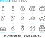 set of people icons user  man ... | Shutterstock .eps vector #1426138760
