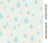seamless raindrops pattern on... | Shutterstock . vector #142614310