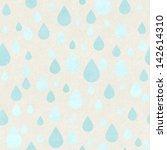 seamless raindrops pattern on... | Shutterstock . vector #142614310