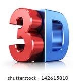 metallic 3d logo isolated on... | Shutterstock . vector #142615810