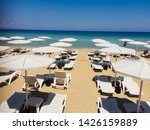sunbeds and beach greek varosha ... | Shutterstock . vector #1426159889