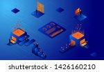 businessman  working using...   Shutterstock .eps vector #1426160210