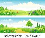 vector spring and summer... | Shutterstock .eps vector #142616314
